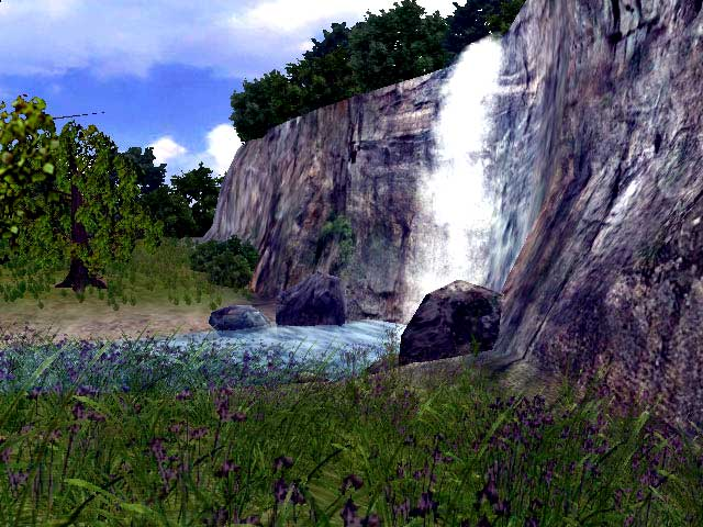 Click to view 3D Vivid Waterfall Screensaver 1.0.3 screenshot