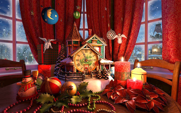 Christmas Evening 3d Screensaver Download Animated 3d Screensaver