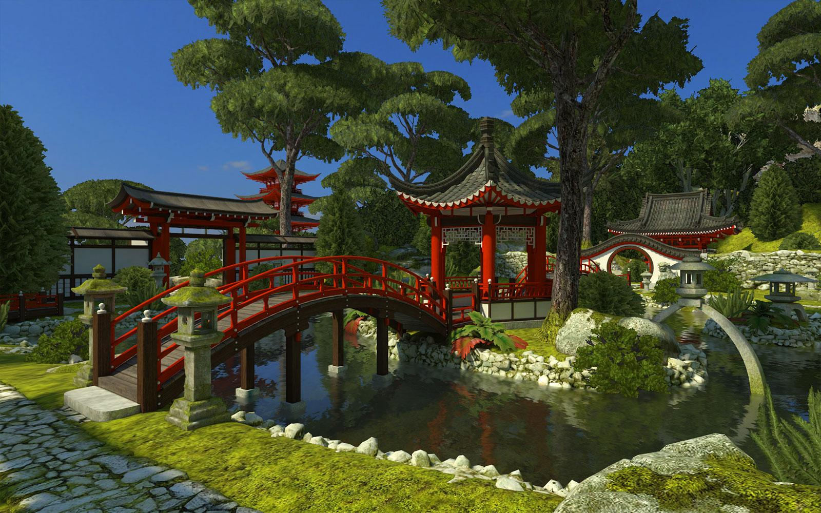 Japanese Garden 3D Screensaver - Download Animated 3D ...