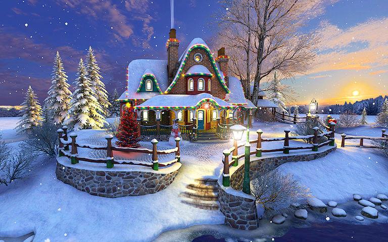 White Christmas 3D Salvapantallas - Descargar ...