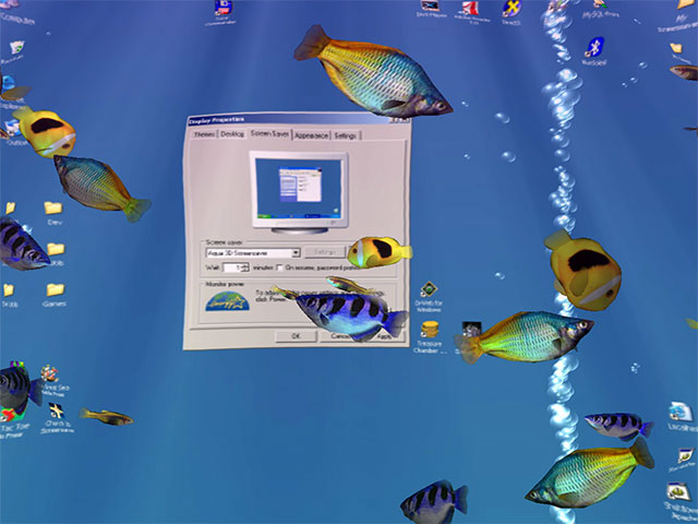 Aqua 3D Screensaver Screenshot