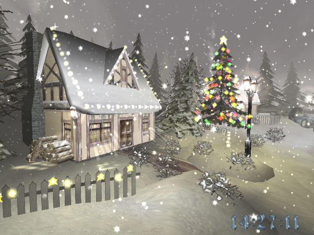 3d, screensaver, screen saver, christmas, time, season, holiday