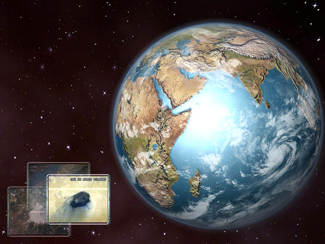 Click to view Earth 3D Space Screensaver 1.0.6 screenshot