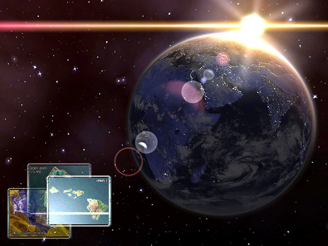 Earth 3D Space Screensaver Screenshot