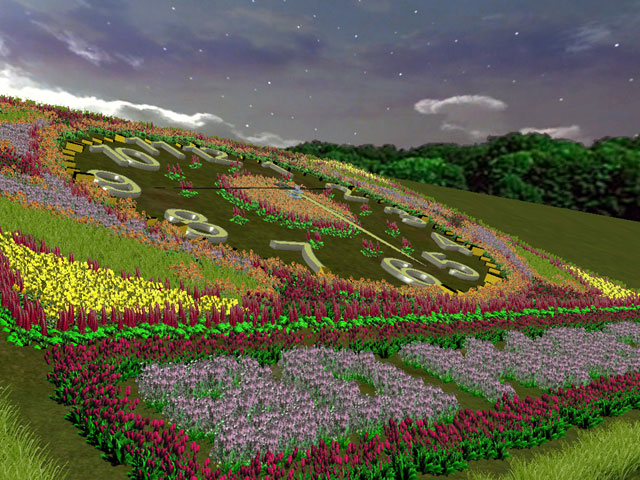 Flower Hill 3D Screensaver Screenshot