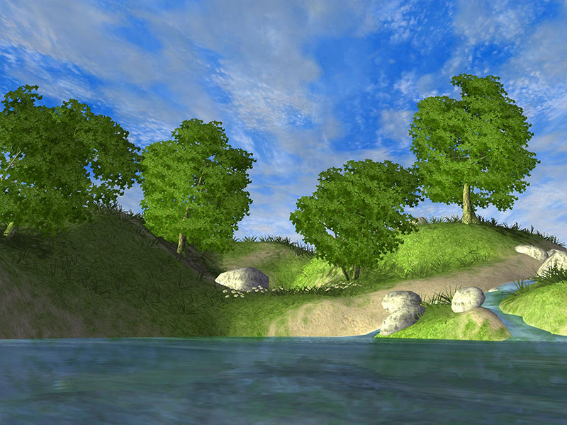 Click to view Forest Lake 3D Screensaver 1.01.6 screenshot