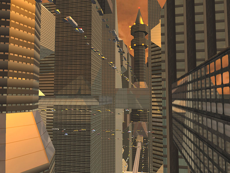Future City 3D Screensaver Screenshot