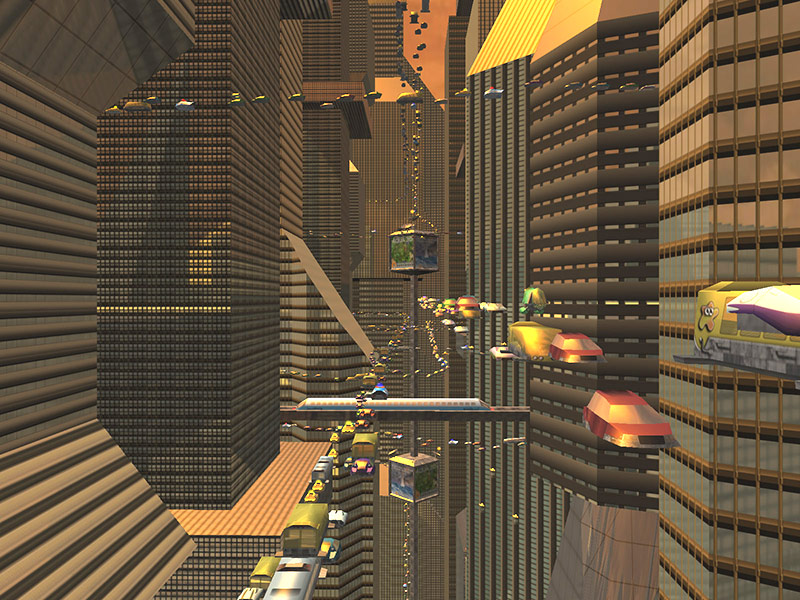 Sci-Fi Future City 3D Screensaver Screenshot