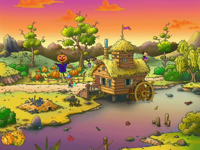 Click to view Gourdville Cartoon Screensaver 1.01.6 screenshot