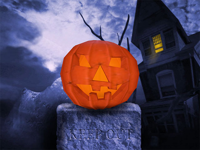 You will see a realistic 3D halloween pumpkin rotating on your screen! Screen Shot