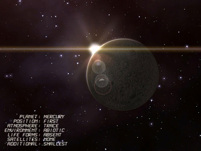 Take fascinating 3D journey to the Mercury Planet Screen Shot