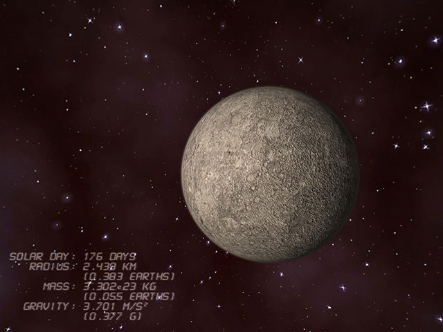 Mercury 3D Screensaver Screenshot
