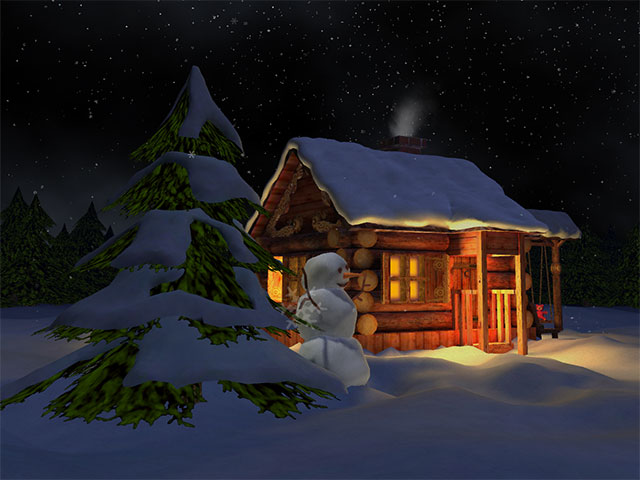 Nival Winter 3D Screensaver full screenshot