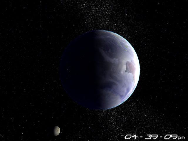Home Planet Earth 3D Screensaver Screenshot