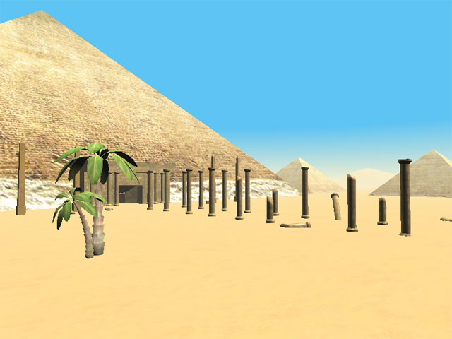 The Pyramids of Egypt 3D Screensaver Screenshot