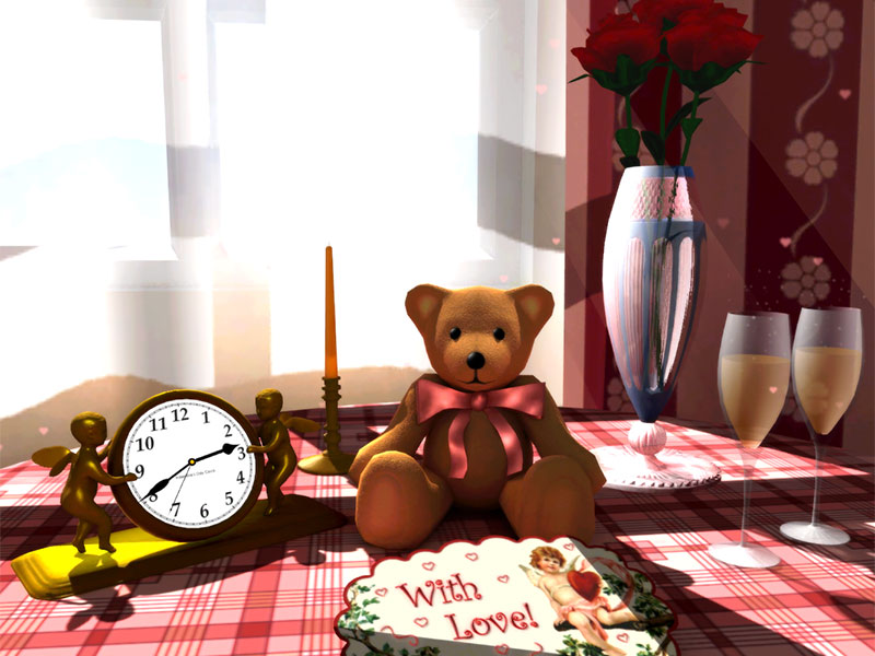 Click to view 3D Valentine's Screensaver 1.0.4 screenshot