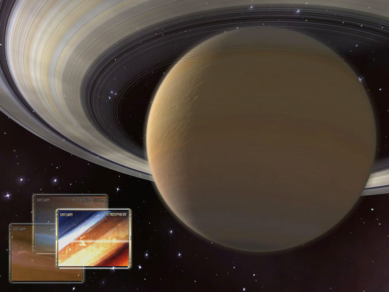 Saturn 3D Space Screensaver Screenshot