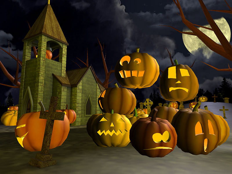 Halloween Graveyard 3D Screensaver screenshot