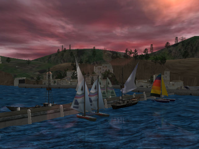 3D Seascape Screensaver Screenshot