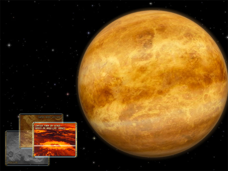Venus 3D Space Survey Screensaver for Mac OS X Screenshot