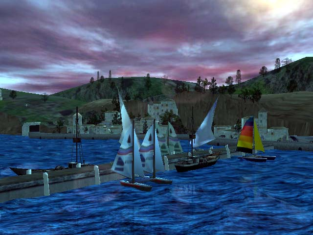 Click to view Advanced Seascape 3D Screensaver 1.0.3 screenshot
