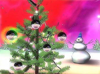 3D Space Christmas