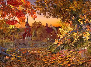 Autumn Wonderland 3D Salvapantallas