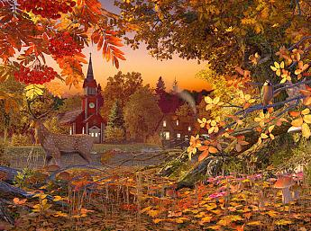 Autumn Wonderland 3D Image plus grande
