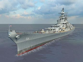 Battleship Missouri 3D