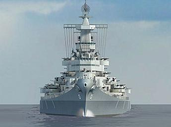 Battleship Missouri 3D larger image