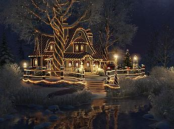 Christmas Cottage 3D Bildschirmschoner