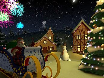 Christmas Holiday 3D Screensaver Image