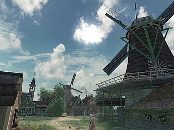 Dutch Windmills 3D Image plus grande