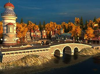 Fall Village 3D Screensaver