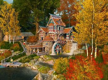 Fall Watermill 3D Salvapantallas