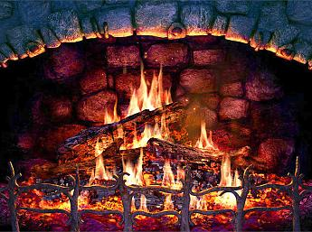 Fireplace 3D Screensaver Image