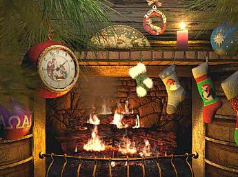 Fireside Christmas 3D Salvapantallas