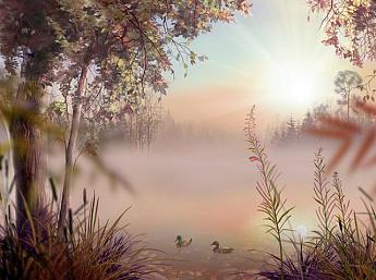 Fog Lake 3D Screensaver