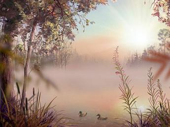 Fog Lake 3D Image plus grande