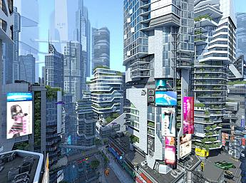 Futuristic City 3D Screensaver