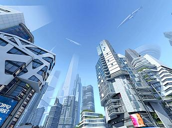 Futuristic City 3D larger image