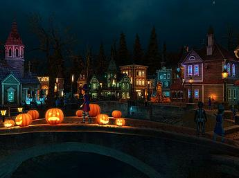 Halloween Village 3D Bildschirmschoner