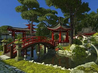 Japanese Garden 3D play video