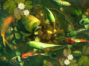Koi Pond - Treasures 3D Salvapantallas