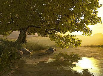 Lake Tree 3D Screensaver
