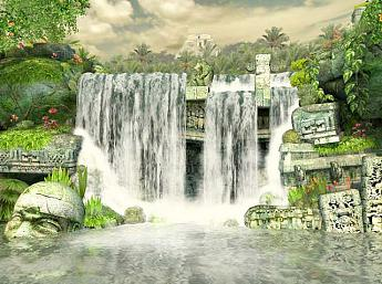 Waterfall 3D Screensaver Image