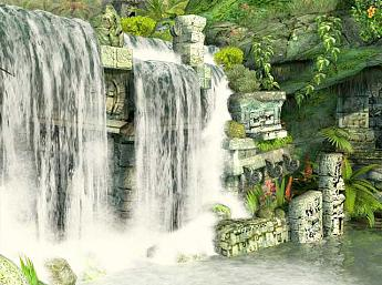 Mayan Waterfall 3D larger image