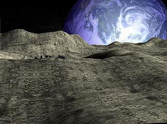 Moon Base 3D Screensaver