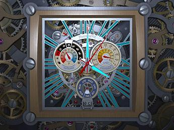 Skeleton Clock 3D Salvapantallas