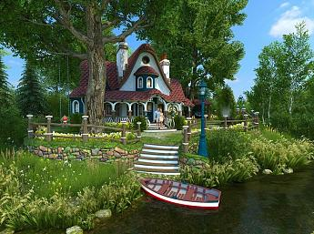 Summer Cottage 3D